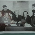 Фото писателей Али Карная, Гайнана Амири, Акрама Вали, Сагита Агиша. Снимок сделан в Уфе в 1939 г.