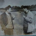 Фото башкирского прозаика, поэта и драматурга Нажиба Асанбаева и башкирского драматурга, писателя и поэта Ибрагима Абдуллина. Снимок сделан во время творческого отпуска писателей в Бирском доме отдыха в 1964 г.