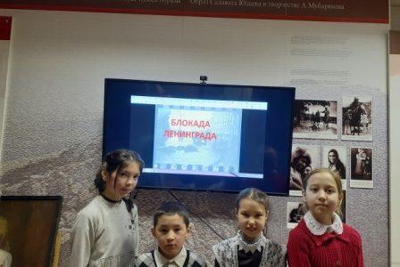 В музее А.Мубарякова прошла беседа, посвящённая76-летию освобождения Ленинграда от блокады